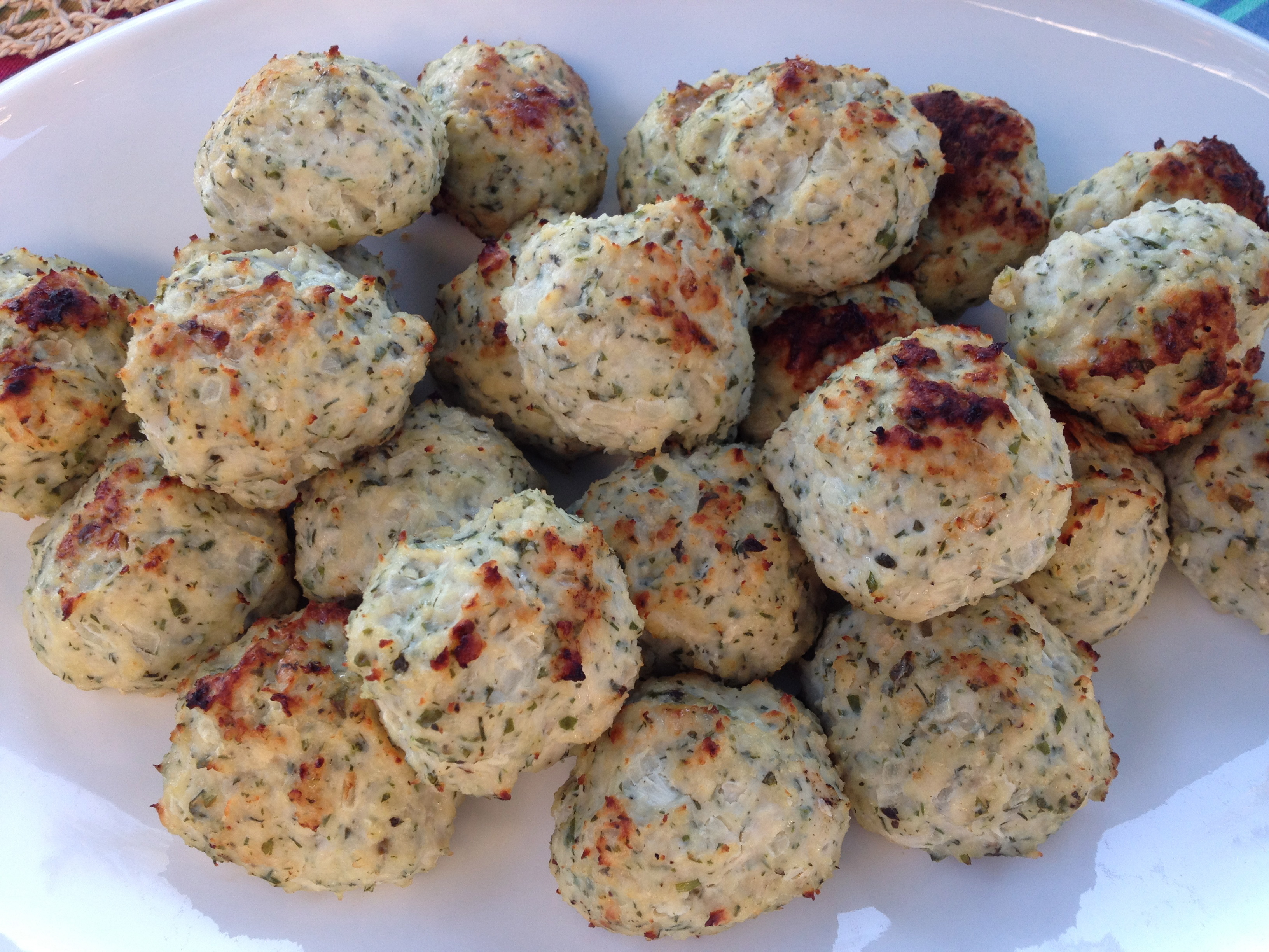 Greek Chicken Meatballs |