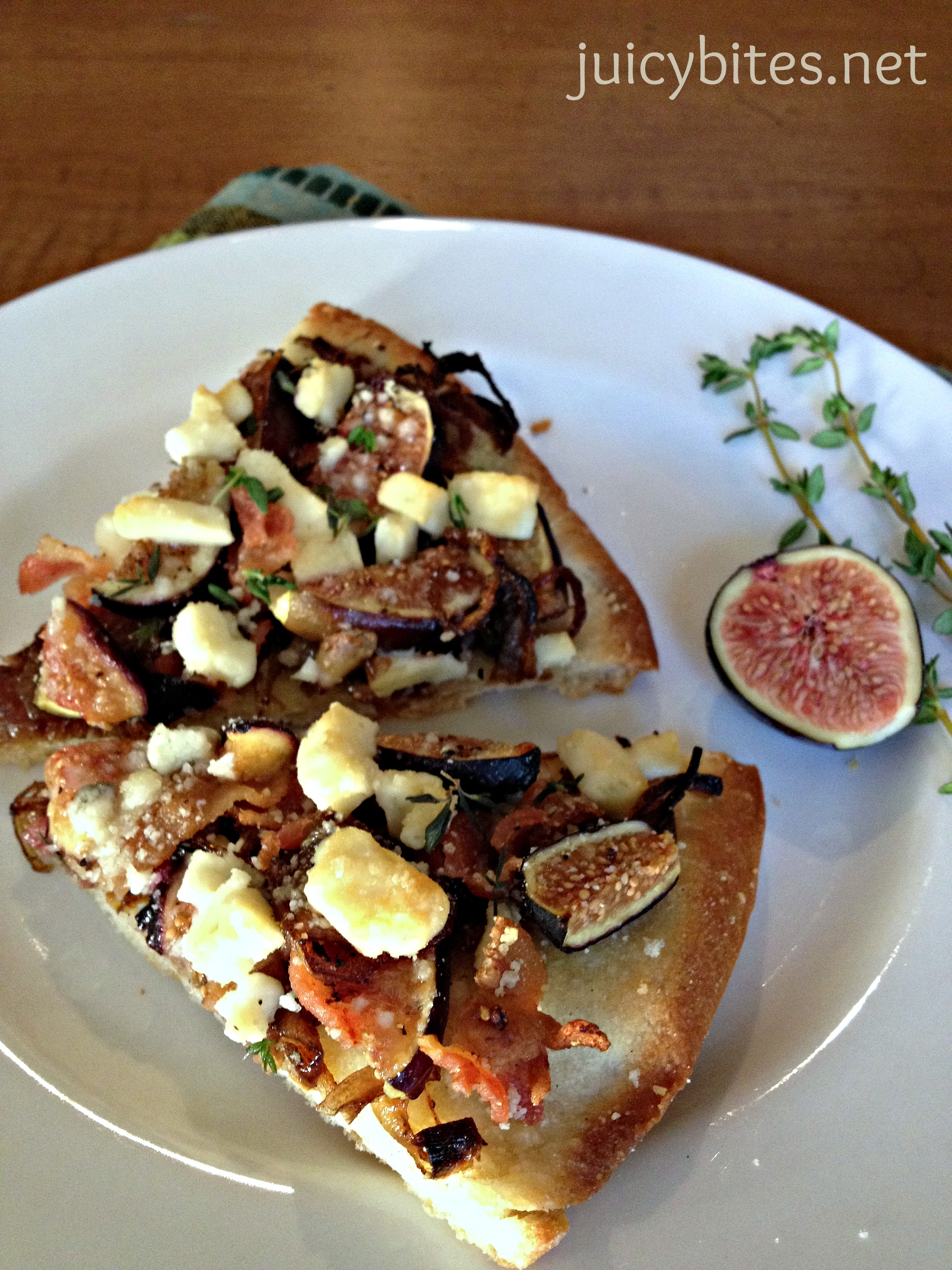 Grilled Pizza With Tapenade, Roasted Onions And Blue Cheese Recipes ...