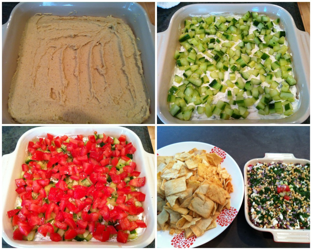 greek dip collage