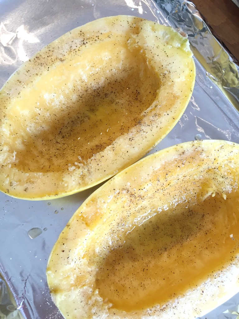 Spaghetti Squash seasoned